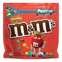 海外直送品 M&M'S Peanut Butter Chocolate Candy Party Size Bag, 38 oz