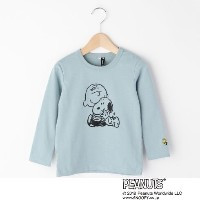 【3can4on(Kids) (サンカンシオン)】SNOOPY コラボ長袖Tシャツキッズ トップス|カットソー・Tシャツ ライトブルー