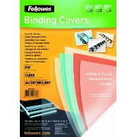 【Fellowes PVC Binding Cover A4 150 Micons Clear (Pack of 100)】 b000ybvufe