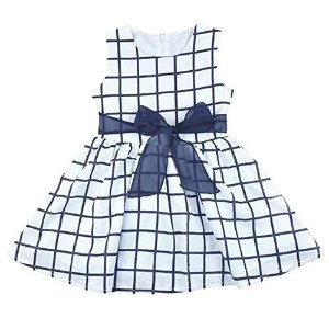 Itaar Cute Baby Toddler Girl Kids Cotton Top Bowknot Plaid Dress Outfit Clothes 18-24 Months by...