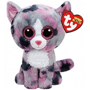 New TY Beanie Boos Cute Lindi the cat Plush Toys 6'' 15cm Ty Plush Animals Big Eyes Eyed Stuffed...