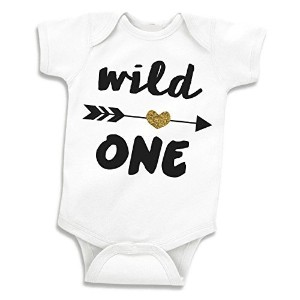 Girl First Birthday Shirt, Wild One Girl Birthday Shirt, (12-18 Months) by Bump and Beyond Designs