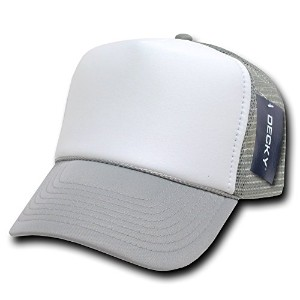 Decky 210-GRY Two Tone Trucker Cap, Grey