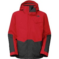 The North Face Marsellus Triclimate Jacket – Men 's TNF Red / Asphaltグレー、L