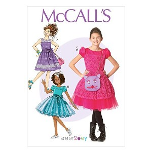 McCall's Patterns M7112 Children's/Girls' Dresses/Belt & Purse, Size CHJ (7-8-10-12-14) by McCall's...