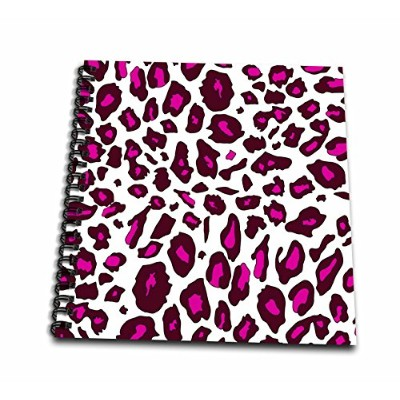 (12x12 memory book) - InspirationzStore Animal patterns - Hot Pink Snow Leopard print - white girly...