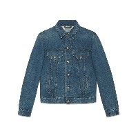 Gucci Denim jacket with embroideries - ブルー