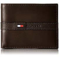 Tommy Hilfiger トミーフィルフィガー 財布 メンズ 財布 Men's Leather Ranger Passcase Wallet (Brown)
