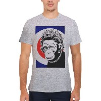 Banksy Monkey Queen Funny Novelty Men Women Unisex Top T Shirt-M