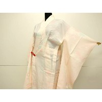 【50%OFF】【IDN】 長襦袢 振袖用 草花 霞模様 ぼかし【リサイクル】【中古】【着】