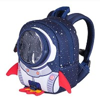 3D Rocket Space Cartoon School Bags For Girls Boys Cool Children Backpack with Anti Lost Kindergarte...