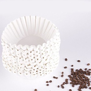 bestomz American CommercialコーヒーフィルタPaper Basket Coffee Filters 25 cm (ホワイト) – 500シート