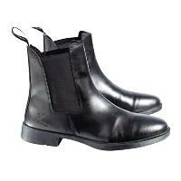 Horze Kilkenny Front Laced Paddock Boot ブラック