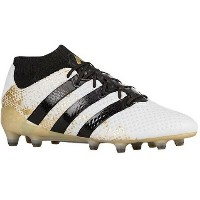 アディダス メンズ サッカー シューズ・靴【ACE 16.1 Primeknit FG/AG】Ftwr White/Core Black/Gold Metallic