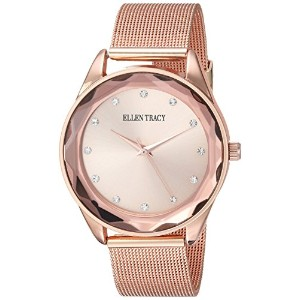 Ellen Tracy Women 's Quartz Metal and Alloy Watch , Color :ローズgold-toned (モデル: et5180rg )