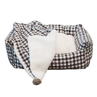 ルイスドッグ Egyptian Cotton Boom/Grey Grand White n Grey Gingham 犬用ベッド