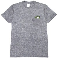 リップンディップ RIPNDIP CAT NIP POCKET TEE(HEATHER GRAY) (M)