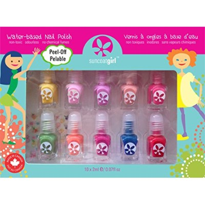 Suncoat Girl, Water-Based Nail Polish Kit, Party Palette, 10 Pieces by Suncoat Girl