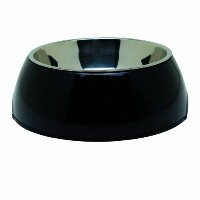 Dogit 2-in-1 Durable Bowl, Black, Small by Dogit