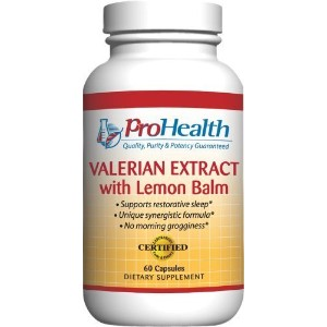 Valerian Extract with Lemon Balm (160 mg, 60 capsules) by ProHealth by ProHealth [並行輸入品]