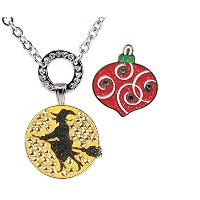 Allure磁気ネックレスwith Witch &クリスマスオーナメントボールマーカーAdorned with Crystalsからスワロフスキー®