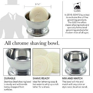 Gbs Chrome Shaving Bowl with Gbs 97% All Natural Soap -- Bowl Will Fit up to 4 Oz Soap by GBS