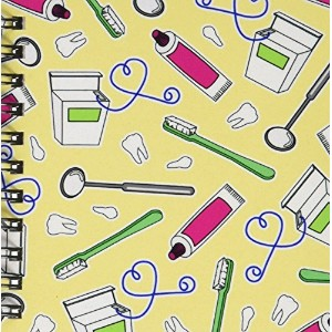 "Janna Salak Designs Occupational Gifts – かわいい歯科医歯科衛生士印刷イエロー – Drawing Book 4 by 4"" db_165821_3"