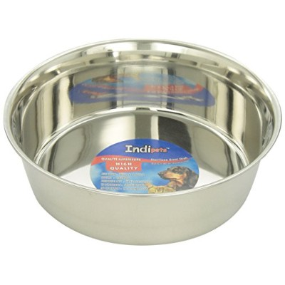 Indipets Stainless Steel Extra Heavy Duty Pet Bowl, 3-Quart by Indipets