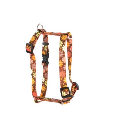 Yellow Dog Design H-AFL101SM Autumn Flowers Roman Harness - Small/ Medium