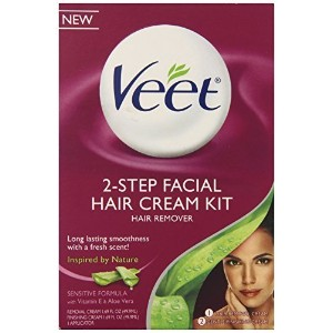 Veet Facial Hair Remover Cream Kit, 3.38 Ounce by Veet [並行輸入品]