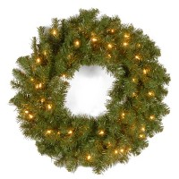 Nationalツリー24インチKincaid Spruce Wreath with 50クリアライト( kcdr-24wlo-1)