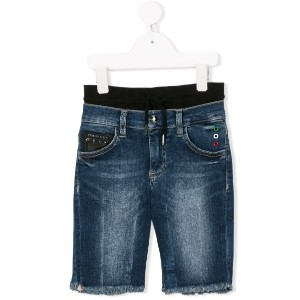 Philipp Plein Junior Enough デニム ショーツ - ブルー