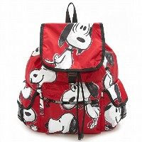 LeSportsac レスポートサック リュックサック 7839 VOYAGER BACKPACK G072 SNOOPY TOSS RED [並行輸入商品]