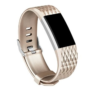 For Fitbit Charge 2バンド、AK Fitbit Charge 2アクセサリーバンドfor Fitbit Charge 2リストバンドLarge Small (トラッカーなし)