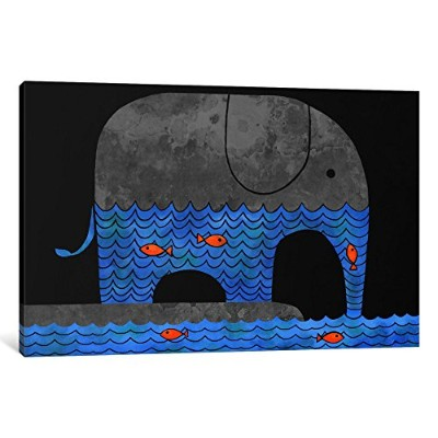 "iCanvasART 1ピースThirsty Elephantキャンバスプリントby Terry Fan 40"" x 26"", 1.5"" Deep TFN210-1PC6-40x26"