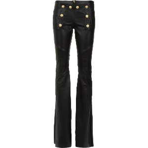Andrea Bogosian leather flared trousers - ブラック
