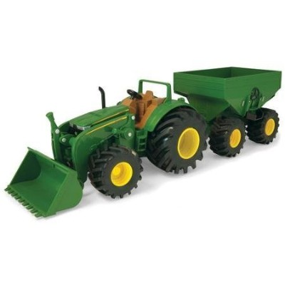 John Deere 20cm Monster Treads Tractor with Waggon and Loader Durable and Long-Lasting Build