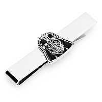Cufflinks IncメンズStar Wars Darth Vader Head Tie Bar ブラック