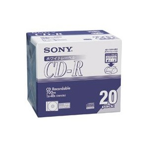 SONY CD-R  700MB  20CDQ80DPWA 6P 120枚