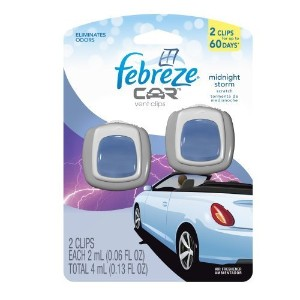 Febreze Car Vents Clips Midnight Storm Air Freshener (2 Count; 2 Ml Each), 0.13 Ounce (Pack of 8)...
