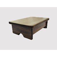 Foot Stool Poplar Wood Walnut Stain (Made in the USA) by Kirk Rogers Furniture Company [並行輸入品]