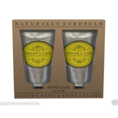 Naturally European Ginger And Lime Luxury Hand And Foot Cream Gift Set 2 x 75ml by Naturally...