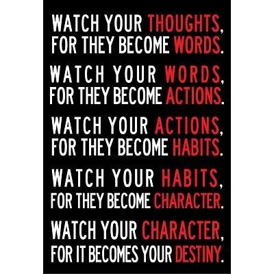 (13x19) Watch Your Thoughts Motivational Poster by Poster [並行輸入品]
