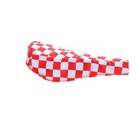 RETRO UNISEX CHEQUERED BMX/ROAD BIKE SADDLE COVERS RED by Ammaco