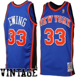 Mitchell & Ness NBAパトリック・ユーイング新しいYork Knicks 1996 – 1997 Throwback Authentic Jersey – Royal Blue (...