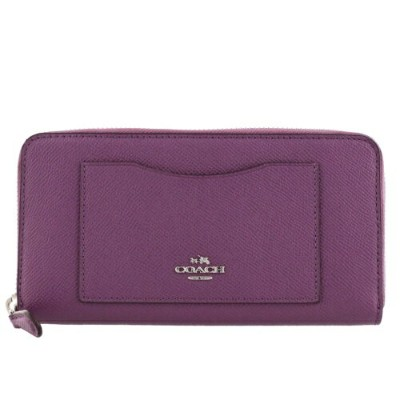 COACH OUTLET コーチ アウトレット 長財布 レディース パープル F54007 SV/BY
