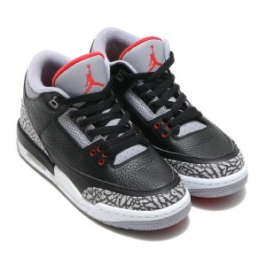 NIKE AIR JORDAN 3 RETRO OG BG(ナイキ エア ジョーダン 3 レトロ OG BG)BLACK/FIRE RED-CEMENT GREY-WHITE【キッズ スニーカー...