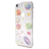 PLATA iPhone6/iPhone6s/iPhone7/iPhone8 ケース カバー プラネタリウム 星 ソフト クリア 【 1 】
