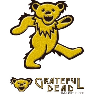 グレイトフルデッドベア GRATEFUL DEAD ステッカー GD DANCING BEAR RUB ON STICKER A GO