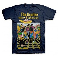 ビートルズ The Beatles Yellow Submarine メンズ Men's Navy シャツ T-Shirt
